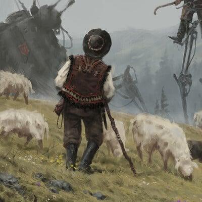 Jakub rozalski meteo shepherds01a