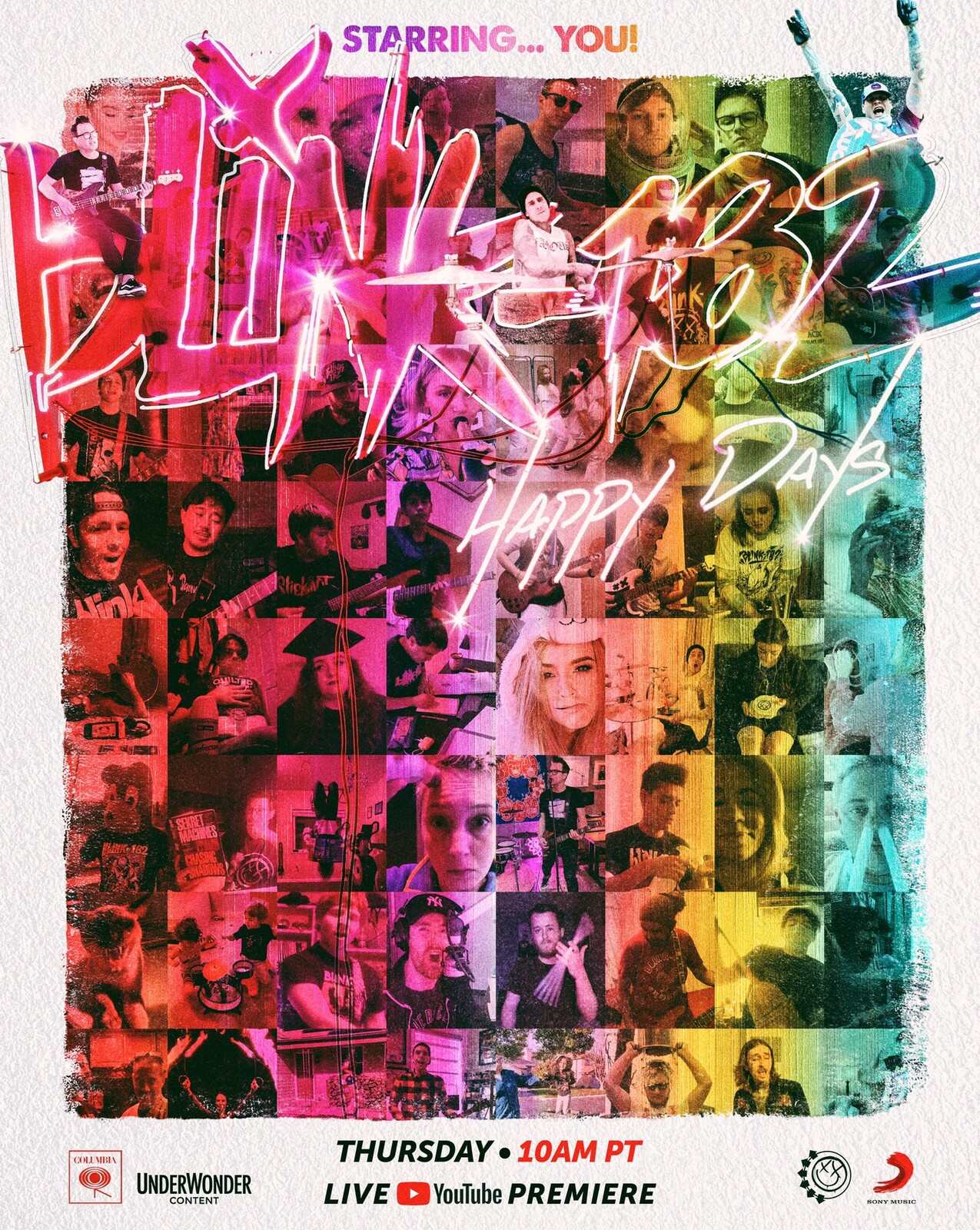 Blink 182 - Happy Days Music Video Movie Poster - Neemz, The Movie Poster Guy