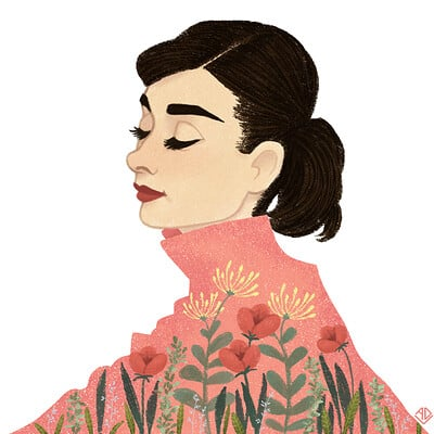 Aline dutra audreyhepburn rose