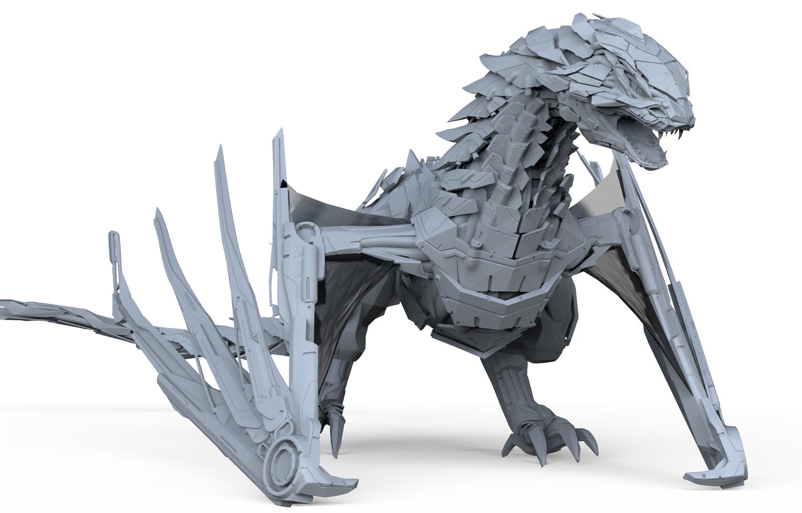 Mecha Dragon Concept Sculpt