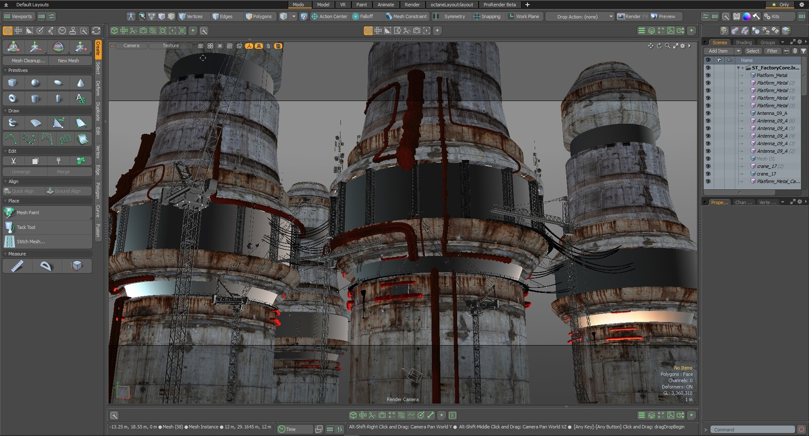 Here's the Modo view. Note that... they're really just cylinders.
