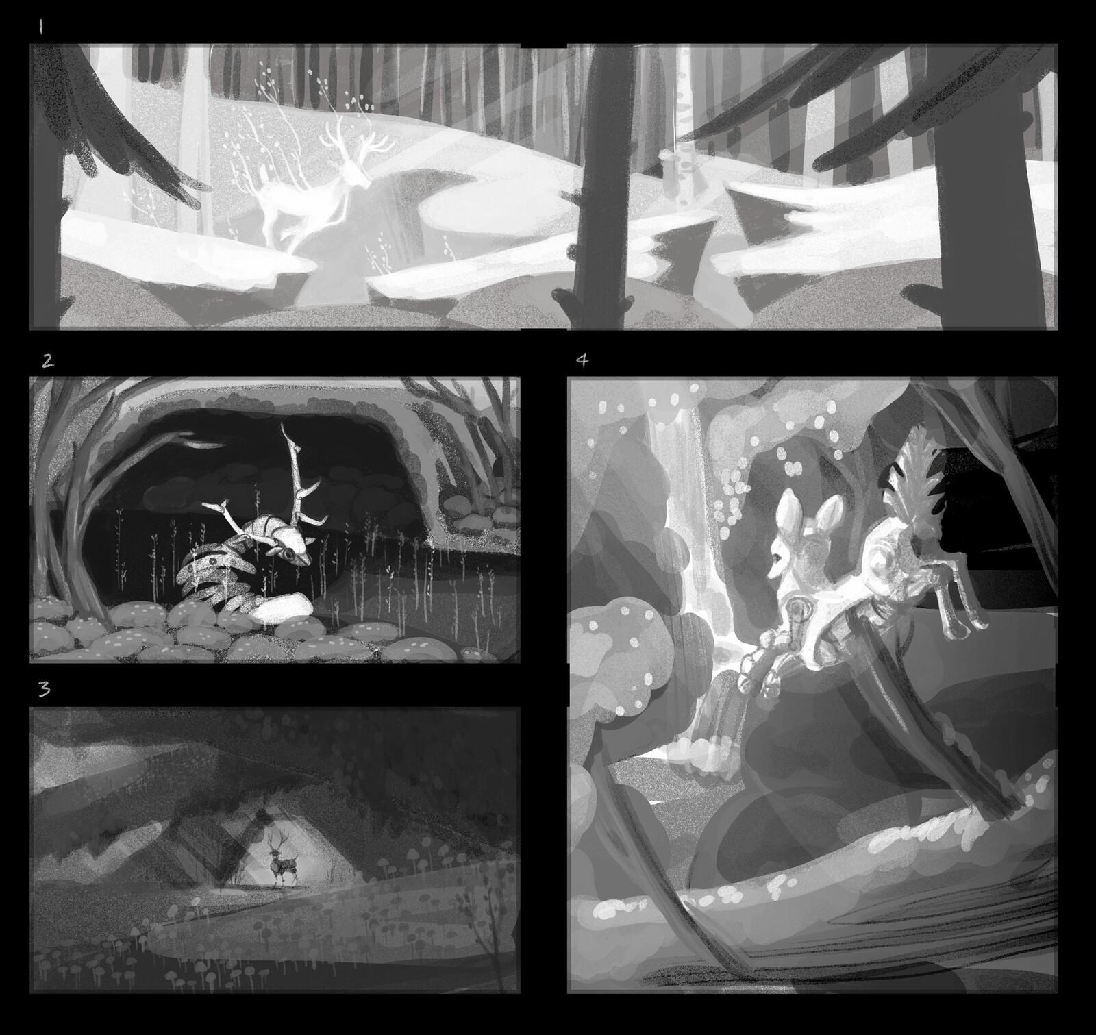 Clockwork animals - thumbnails exploration