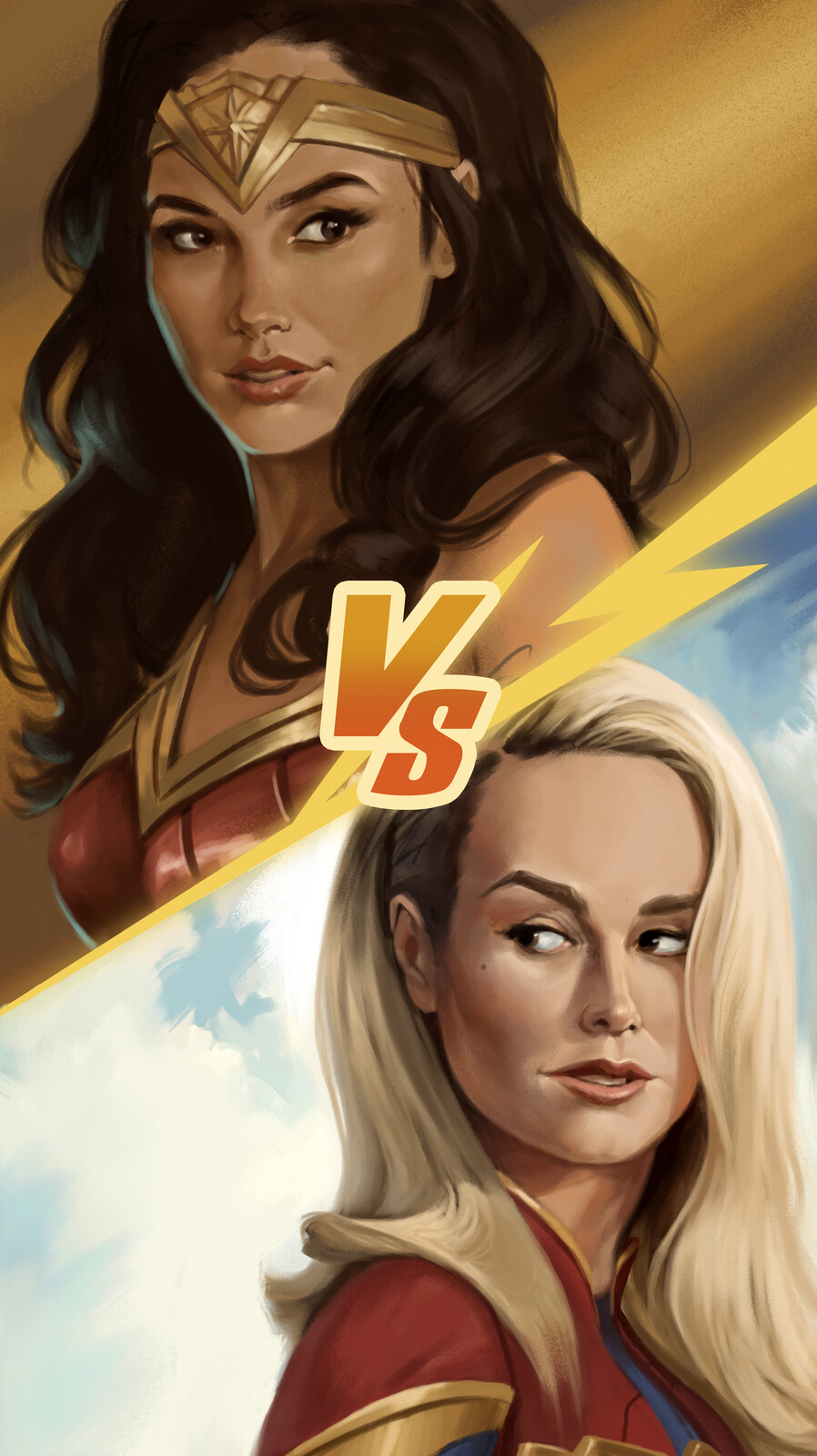 wonder woman VS captain marvel