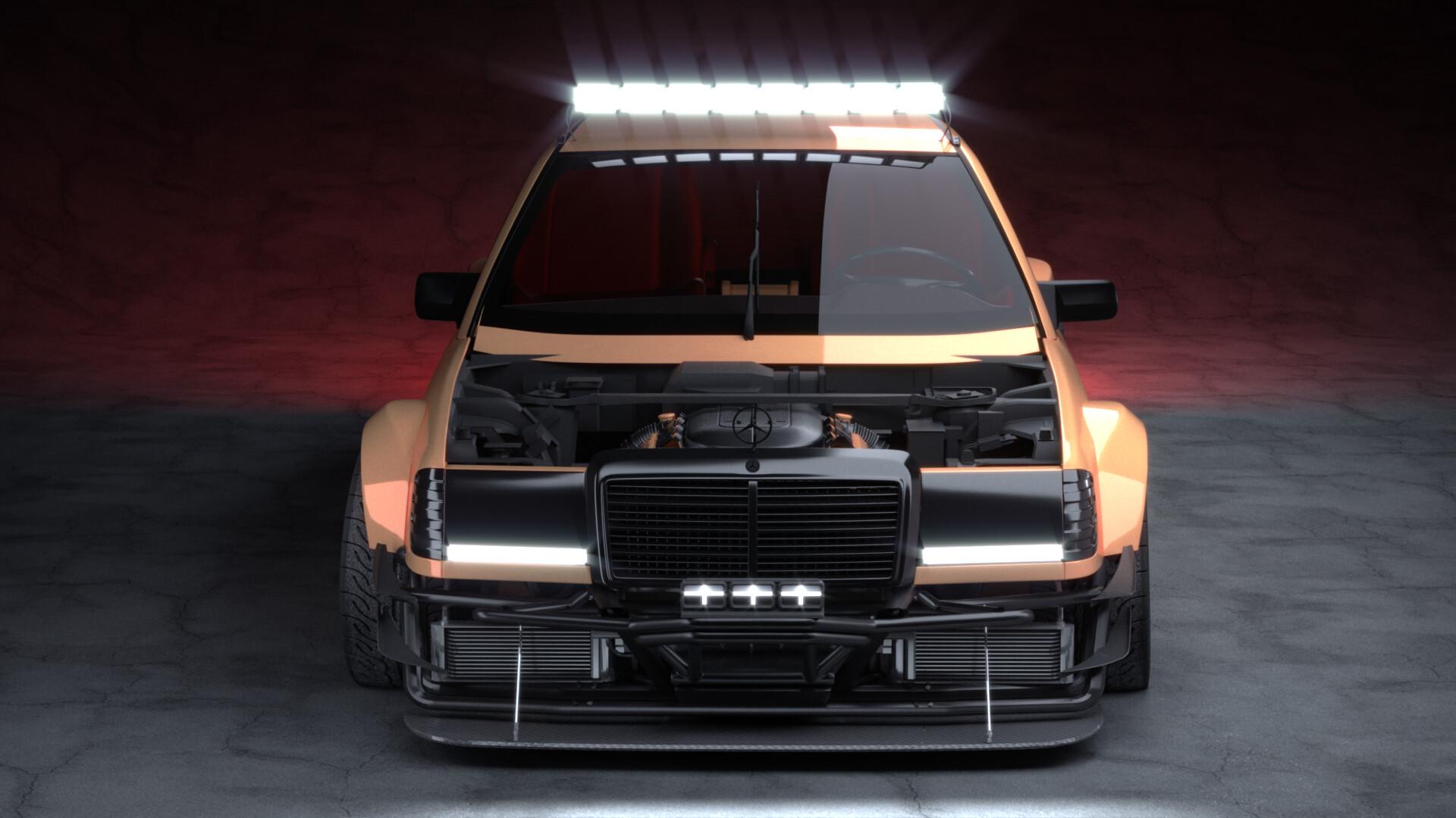Artstation Mercedes Benz W124 Coupe Race Mode Vladimir Grynchuk