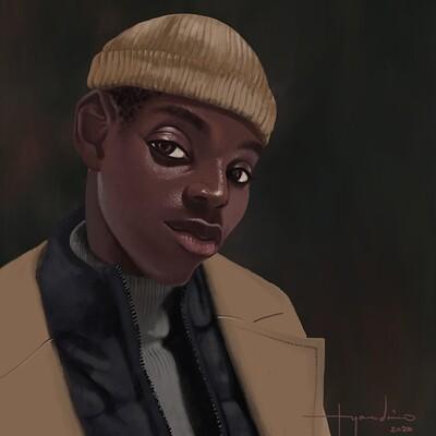 Rye adriano man in a beanie