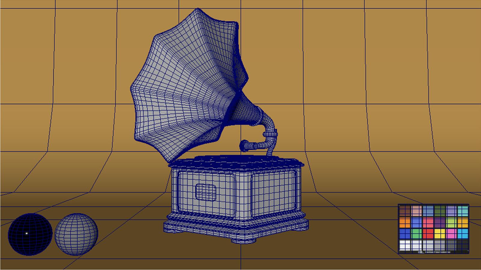 Maya Viewport Wireframe Render