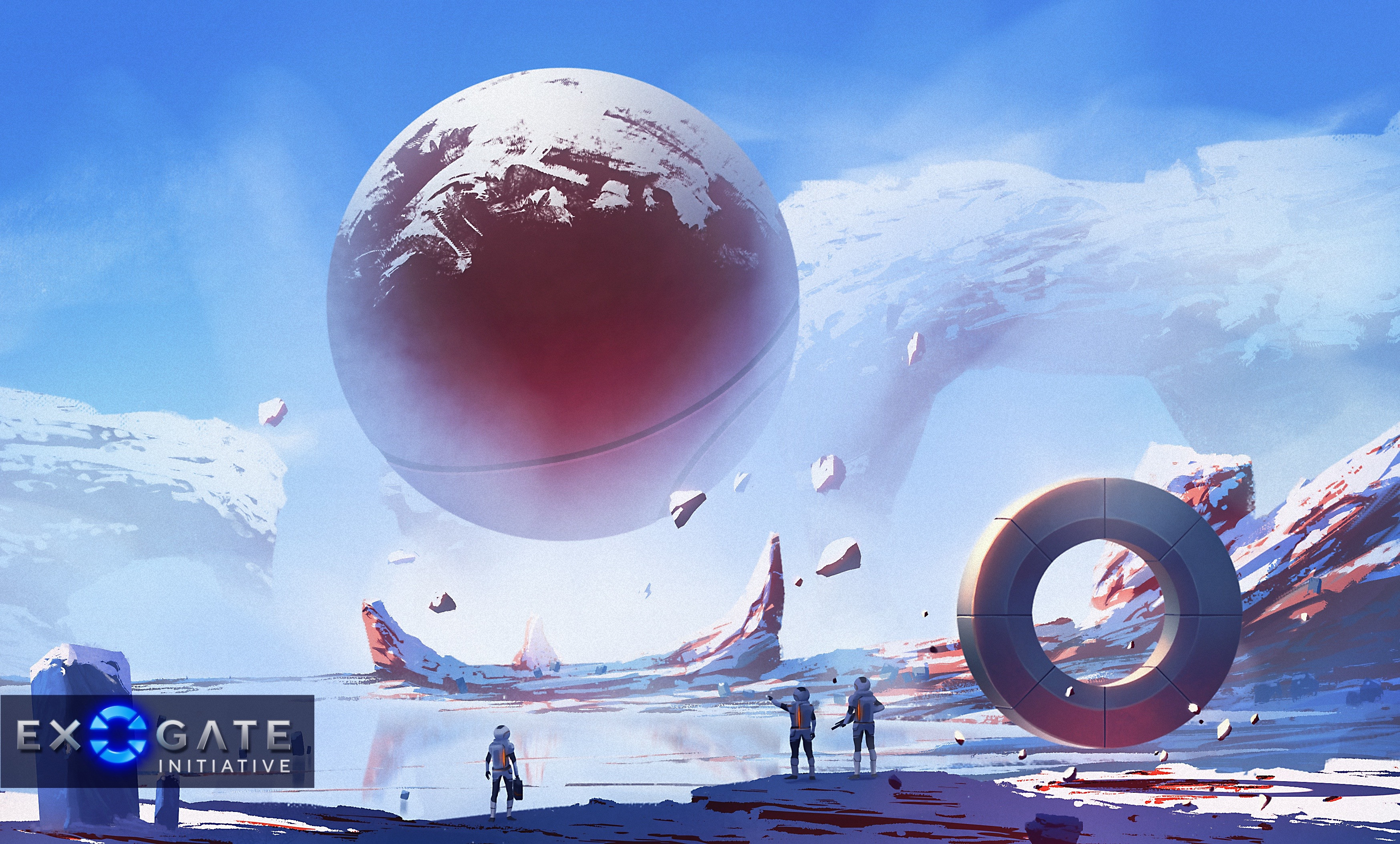 Concept painting for the alien planet the portal leads to