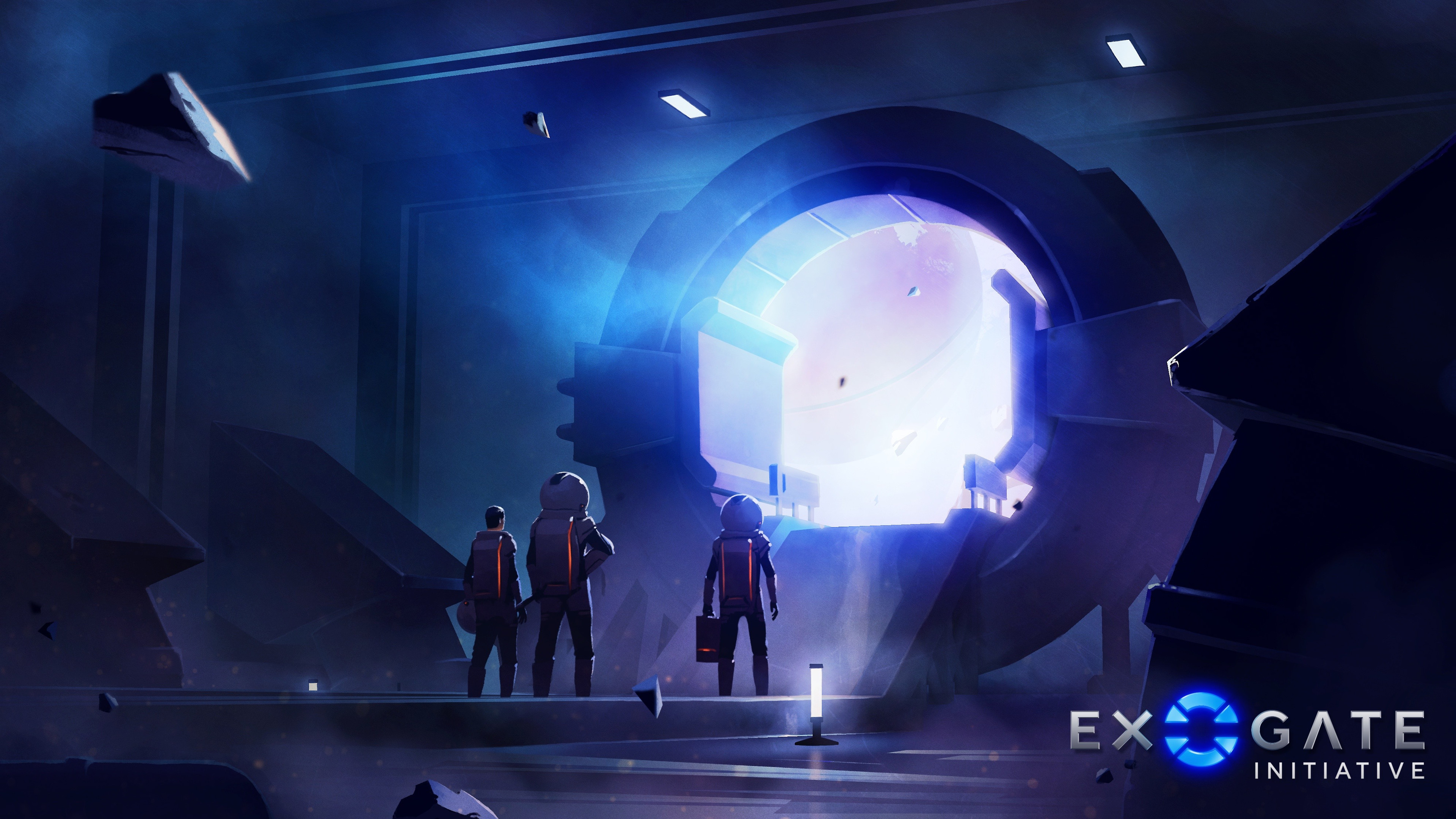 Initial portal room concept painting