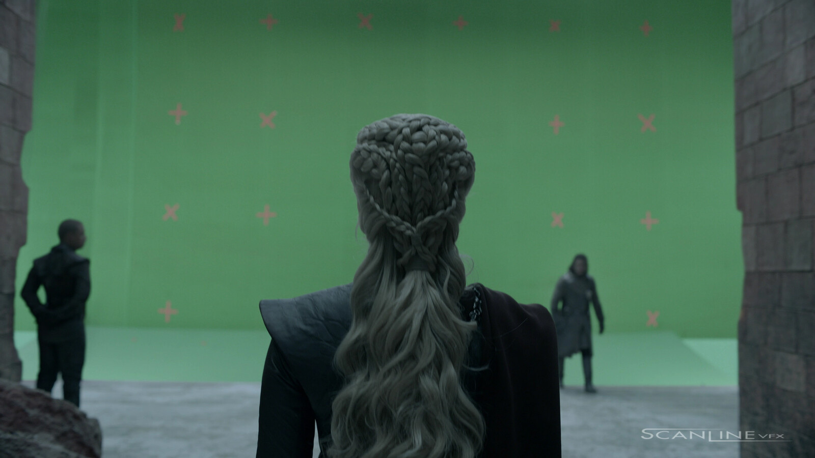 The Red Keep Plaza - Step 01: Green Screen / Original Plate.