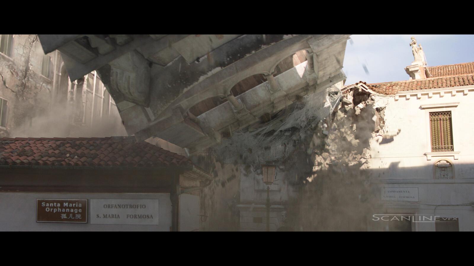 DMP + CG Environment, FX Destruction, 2D elemements