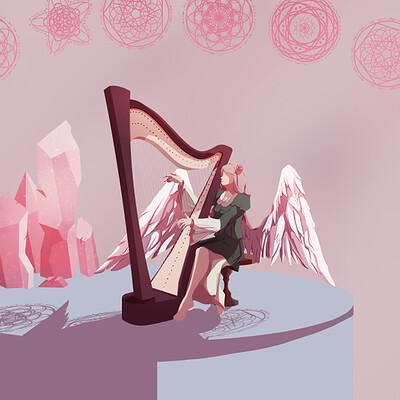 Sylvan leaf harp a4