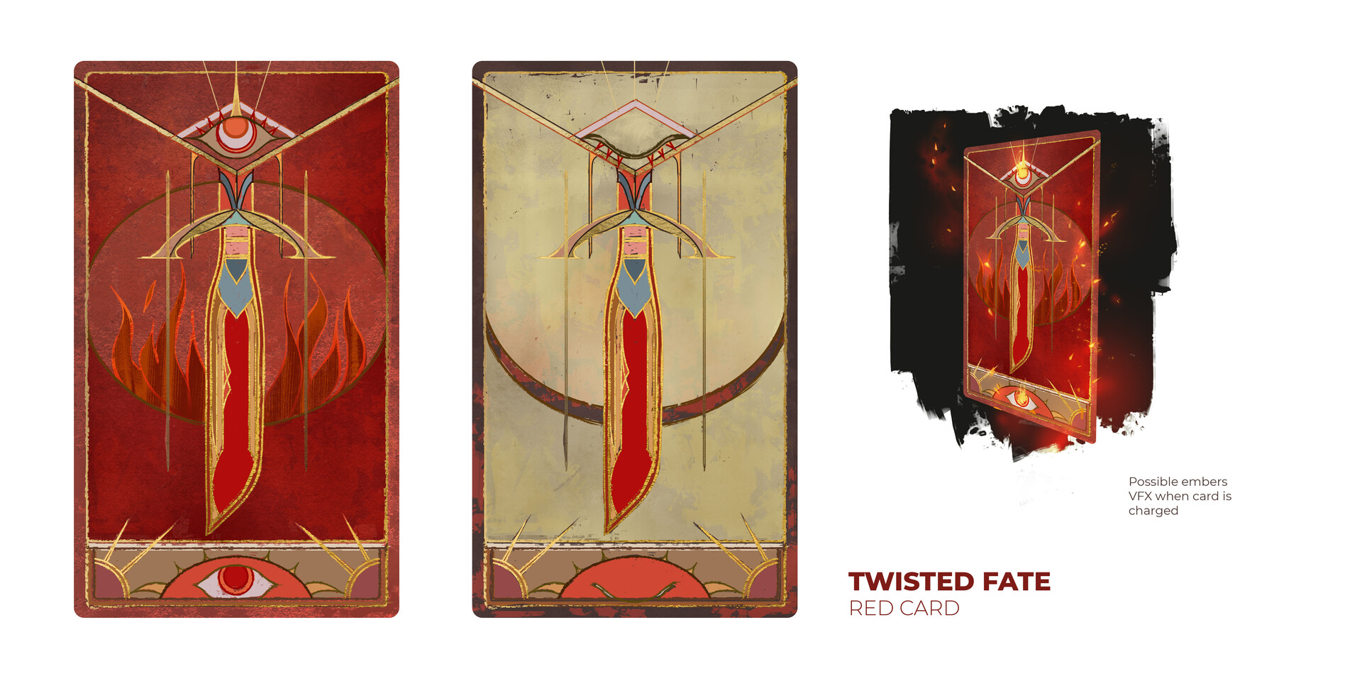 Twisted Fate's Red Card with ON and OFF state.