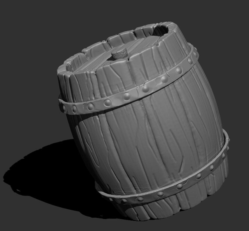 Barrel Asset Zbrush