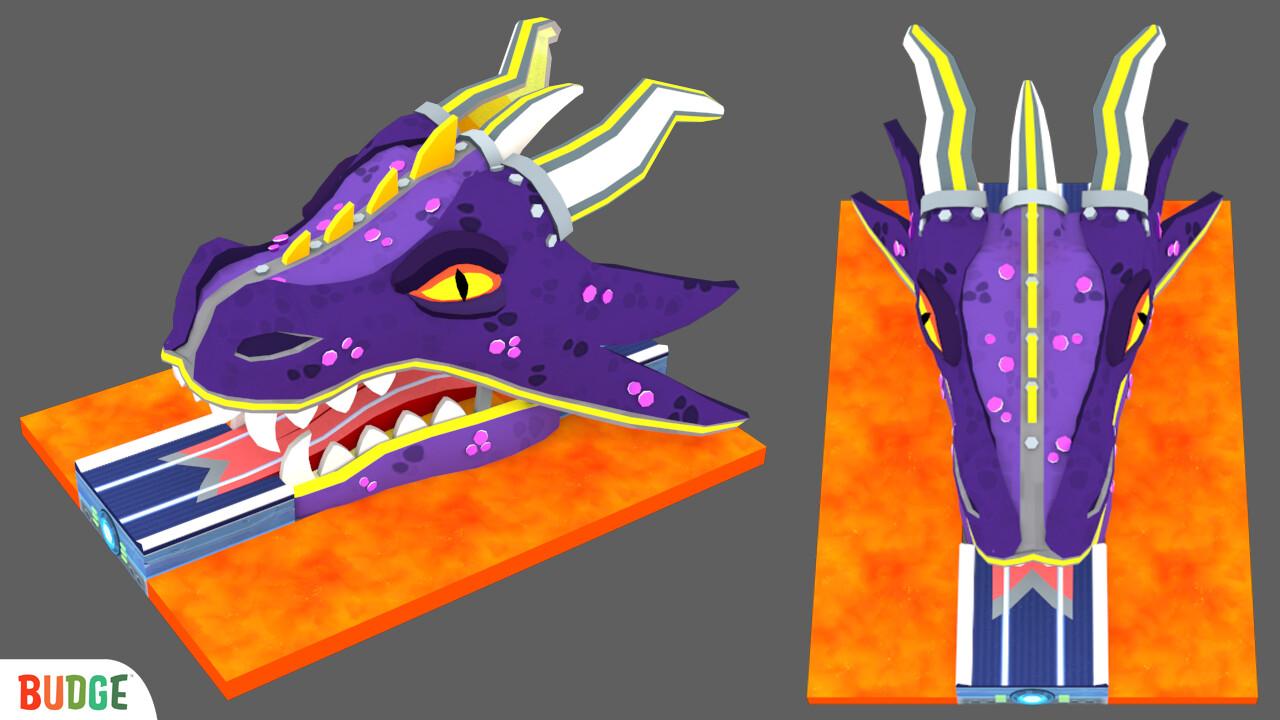 Dragon head track piece