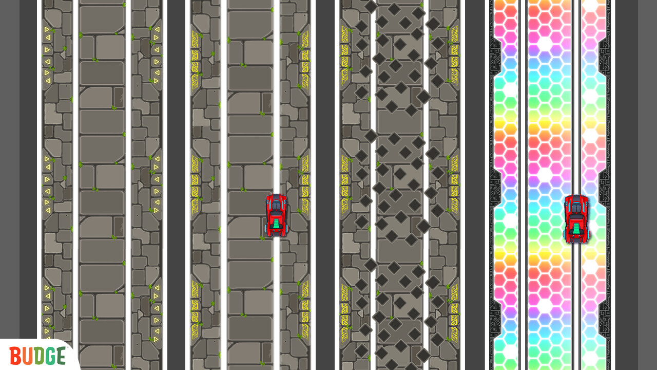 Few iterations of race tracks from the game