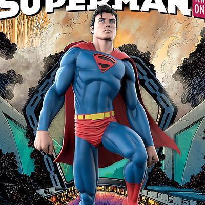 Alterton bizarre superman year one cover mockup