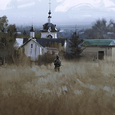 Nick gindraux russian countryside1 artstation