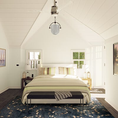 Brian vagie lake house bedroom