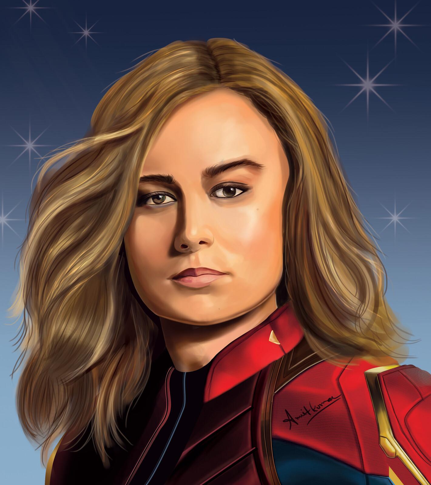 Captain marvel digital painting