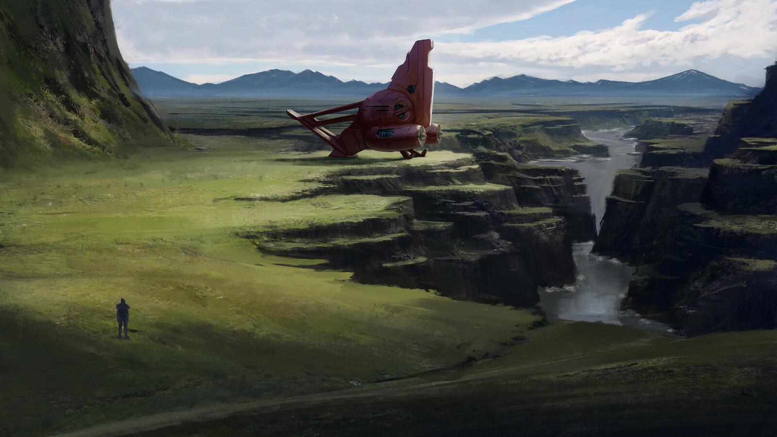 Spaceship painting .2