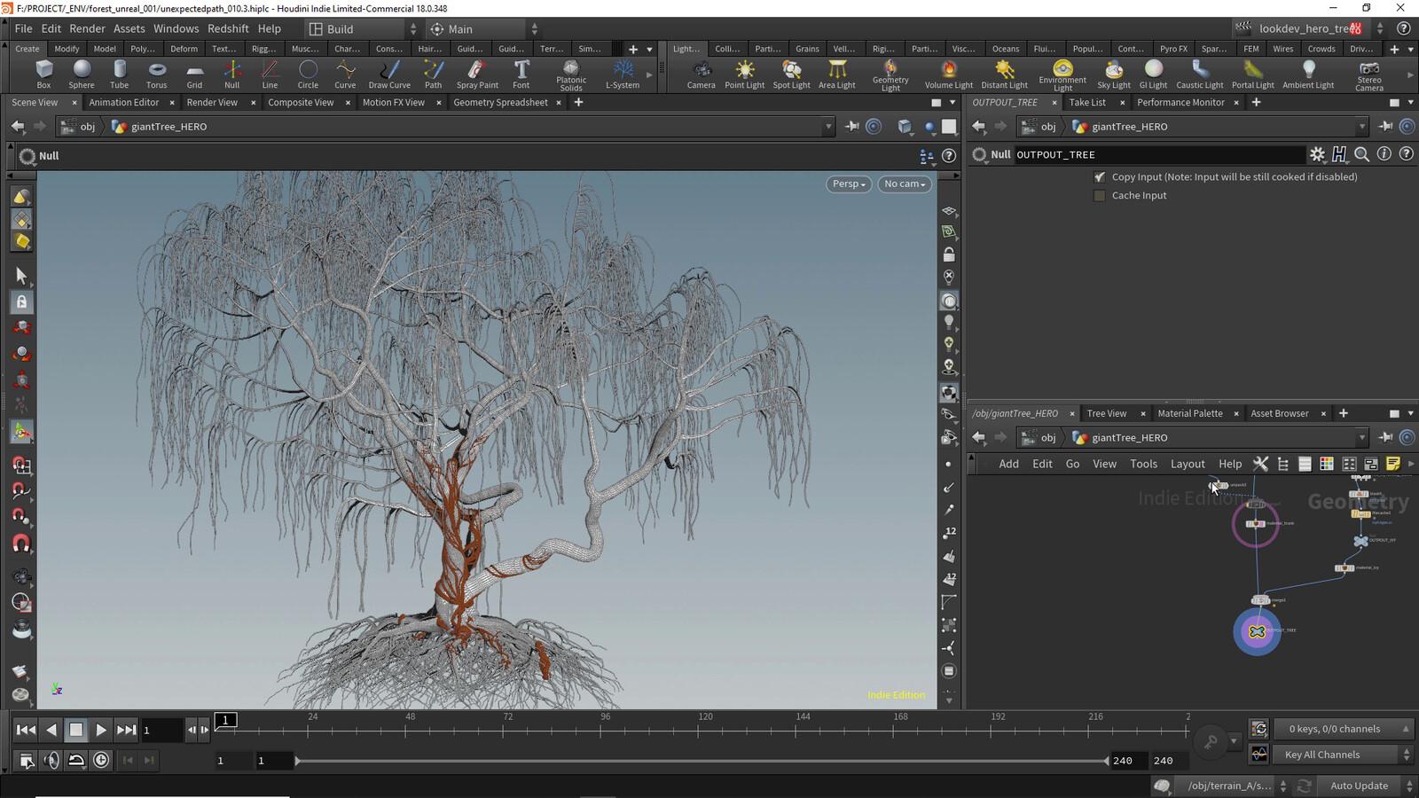 base mesh for Hero tree made in speedtree