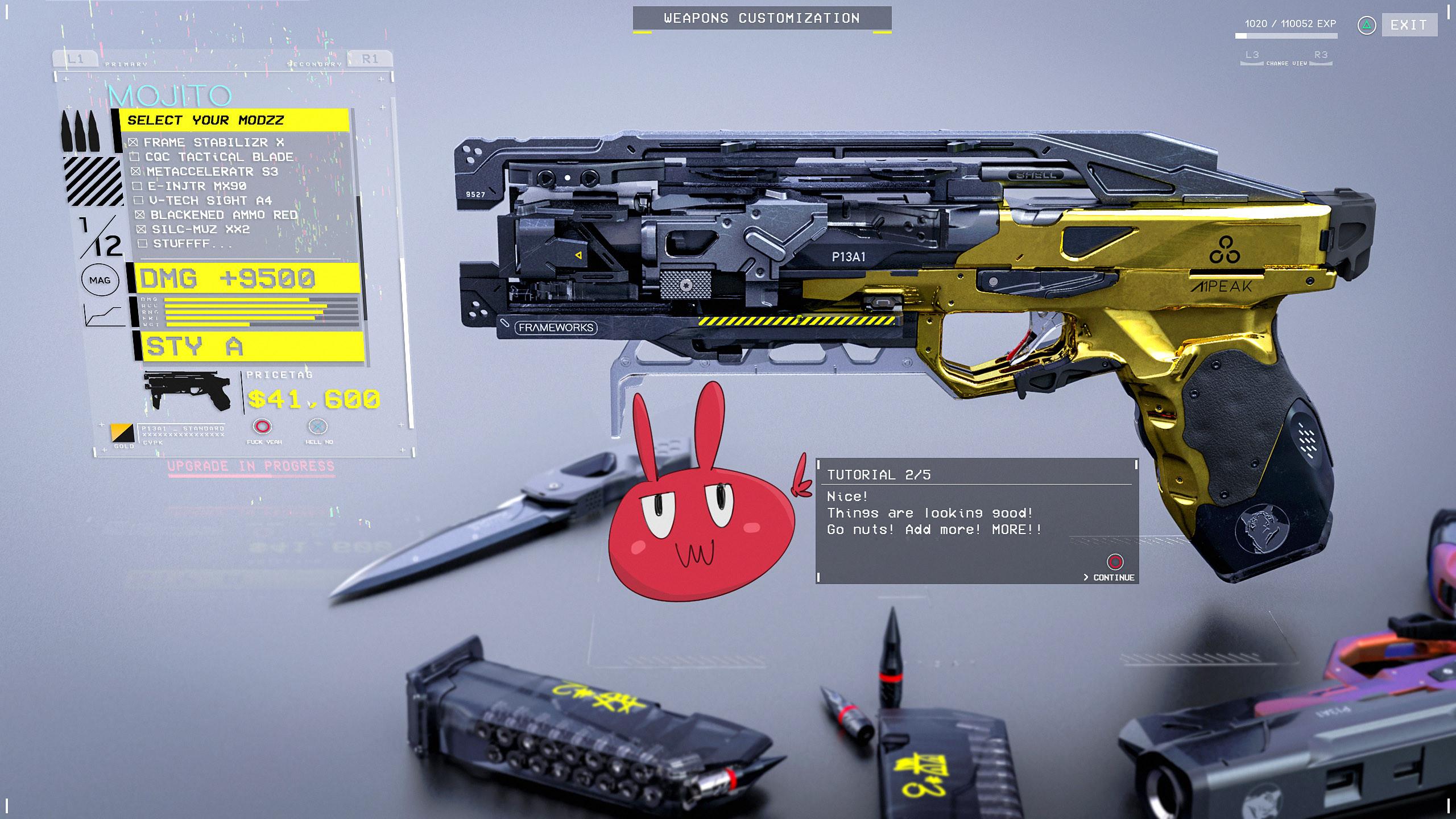 Gun customization. Step 2