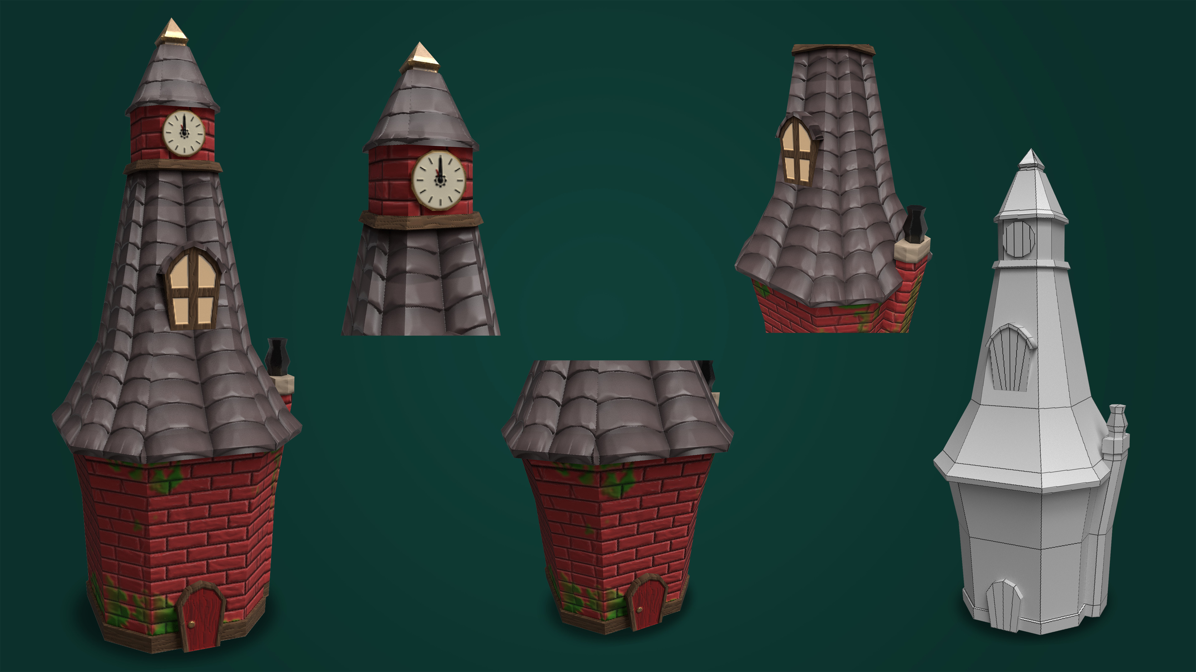 Stylized Town Clocktower.