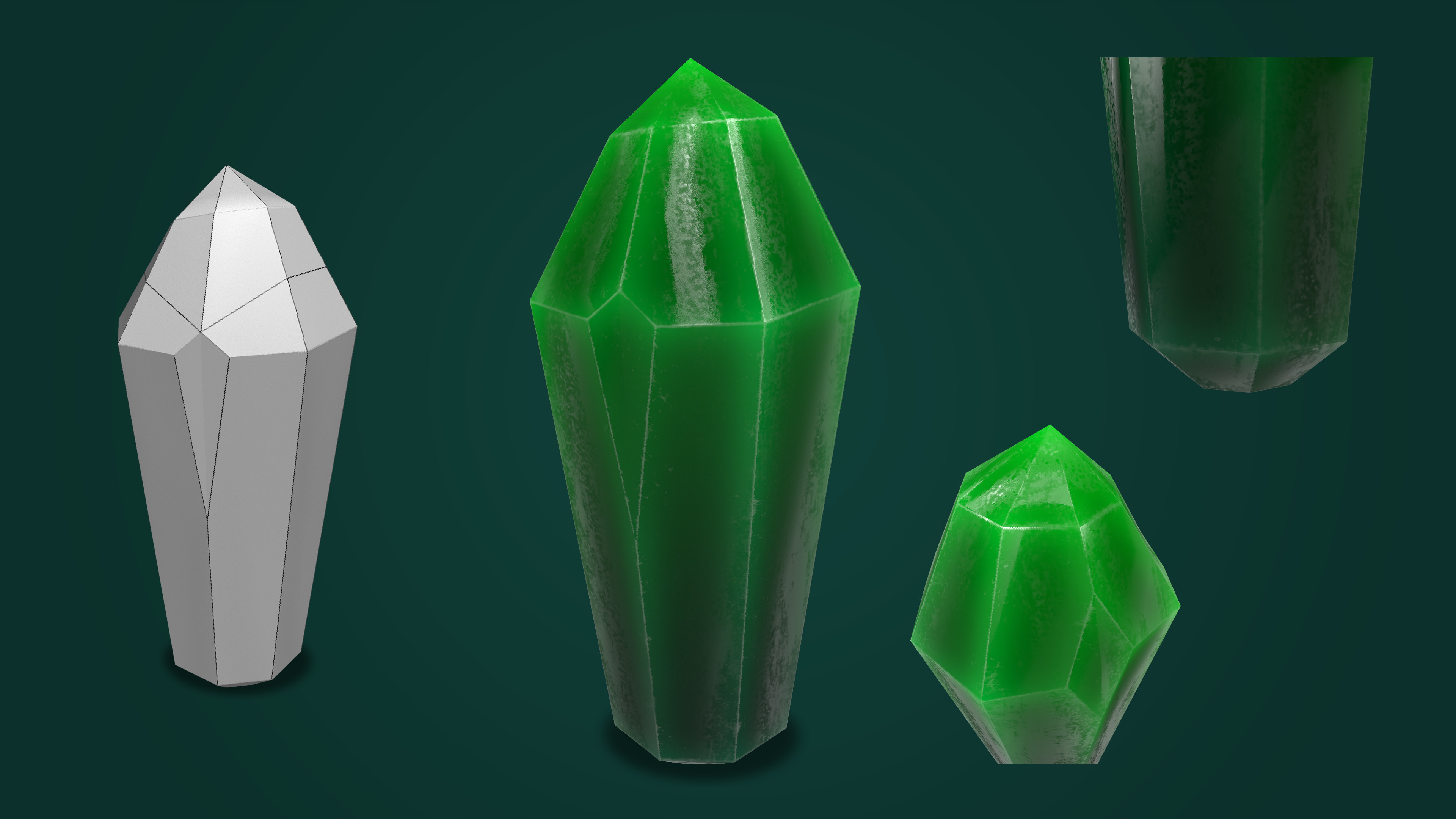 Glowing Green Crystal.