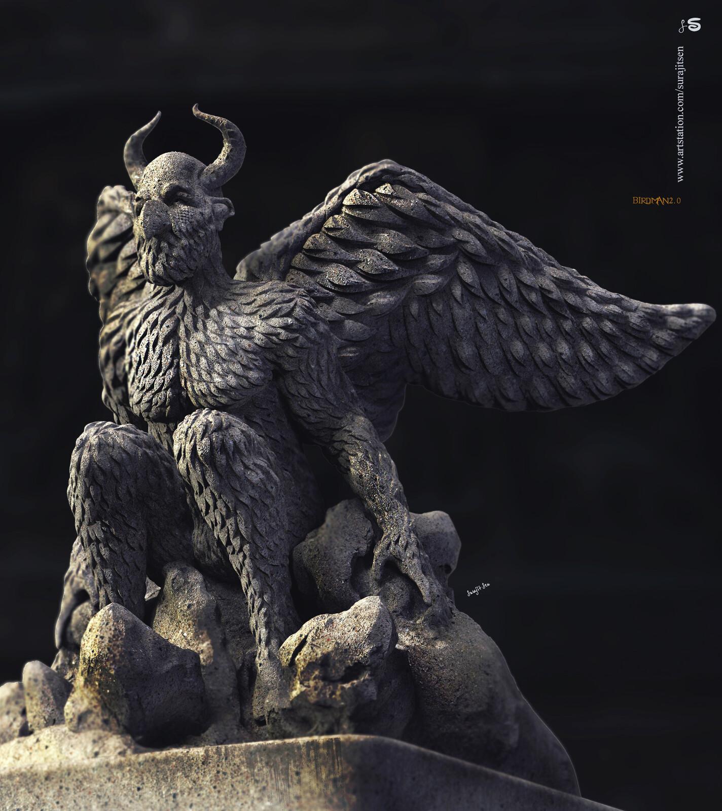 Birdman2.0 Digital Sculpture Wish to share. Background music- #hanszimmermusic