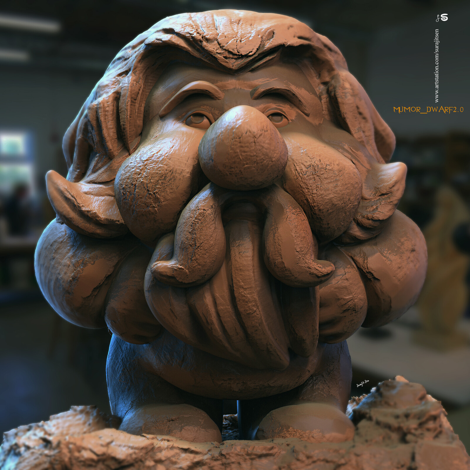 Mumor_Dwarf2.0 one of my free time quick Digital Sculpture. Fun with brushes... Wish to share.