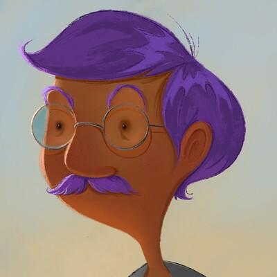 Meg cummins purple moustachio