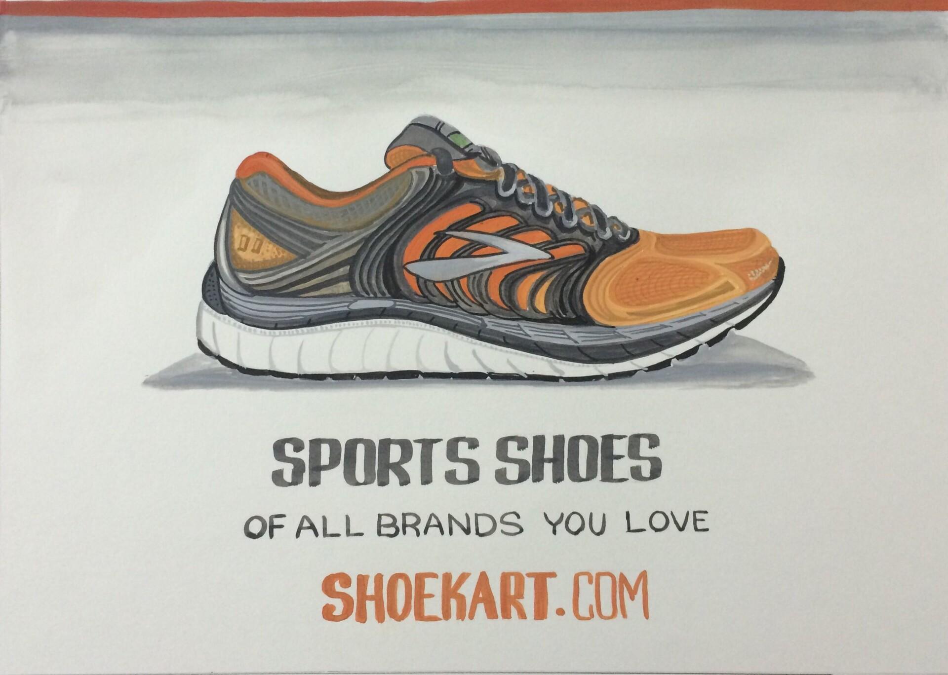 Signage Design - Shoe - Poster colors on paper