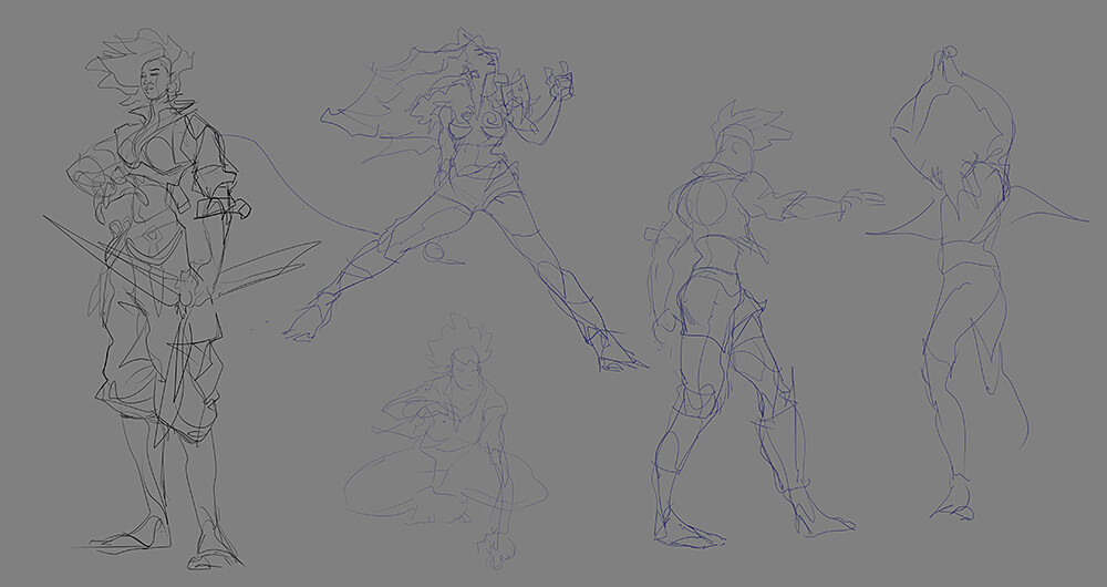 Rough poses/ideas sketch