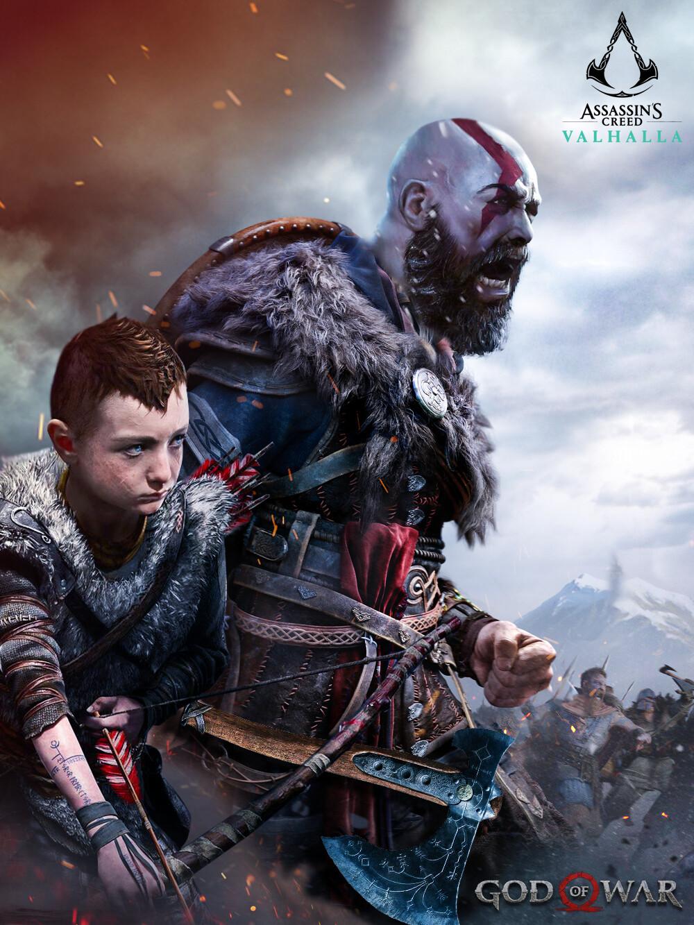 Artstation Assassin S Creed Valhalla God Of War Kris Ugoh