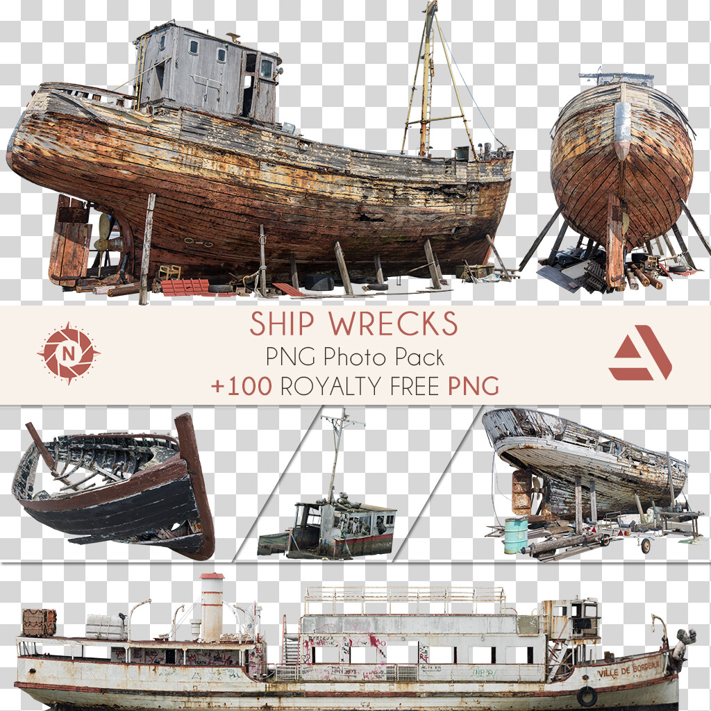 PNG Photo Pack: Ship Wrecks  https://www.artstation.com/a/165855