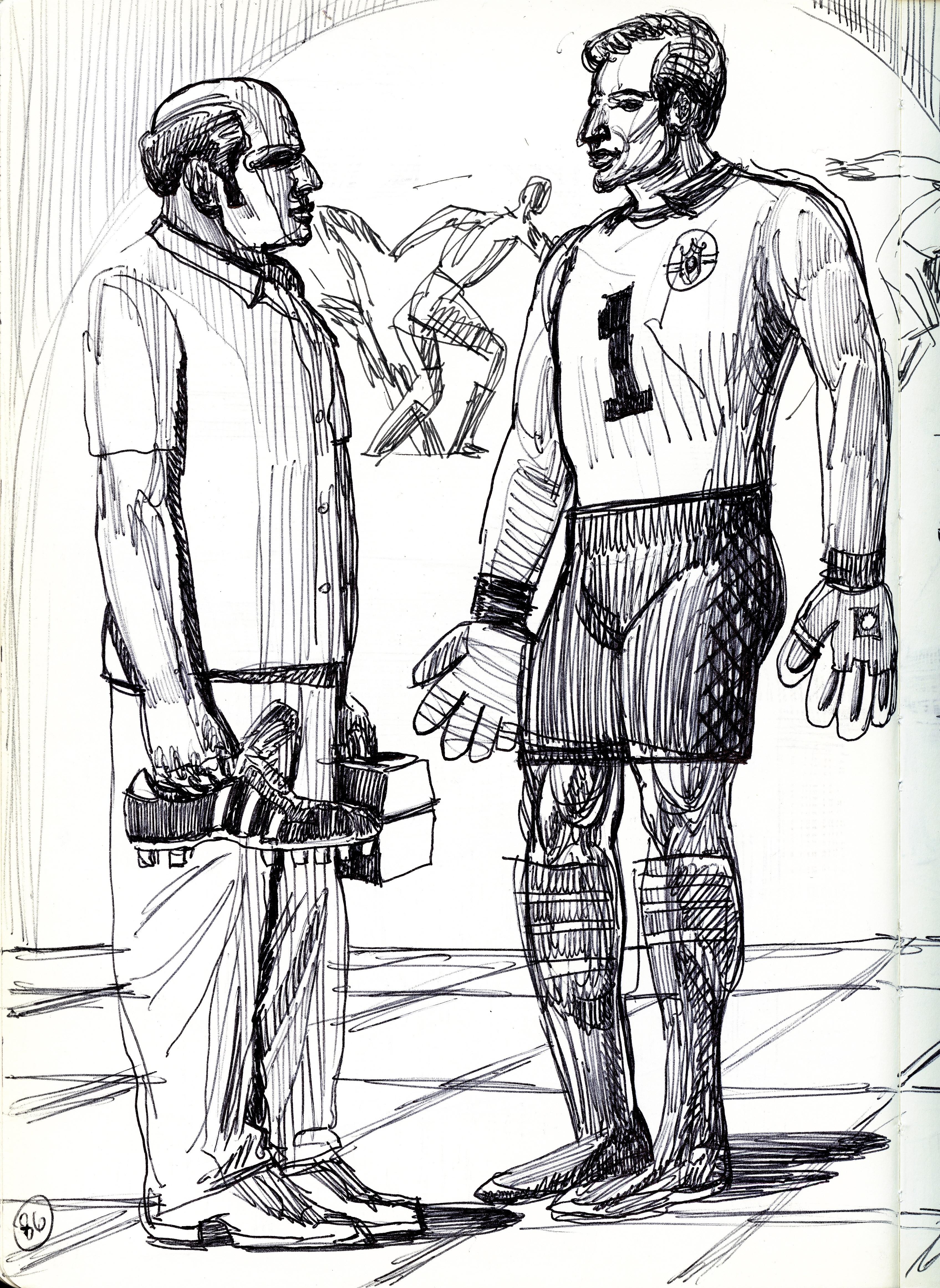 Italian Soccer Goalie and Trainer