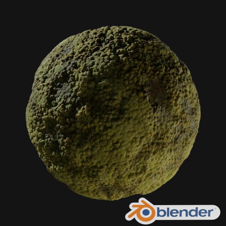Procedural Moss Material - Blender