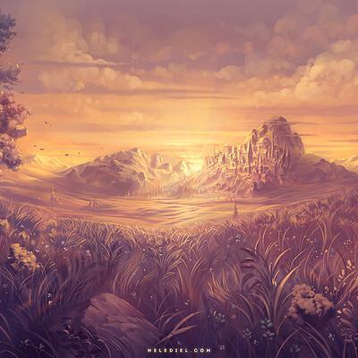 Nele diel sunlit plains