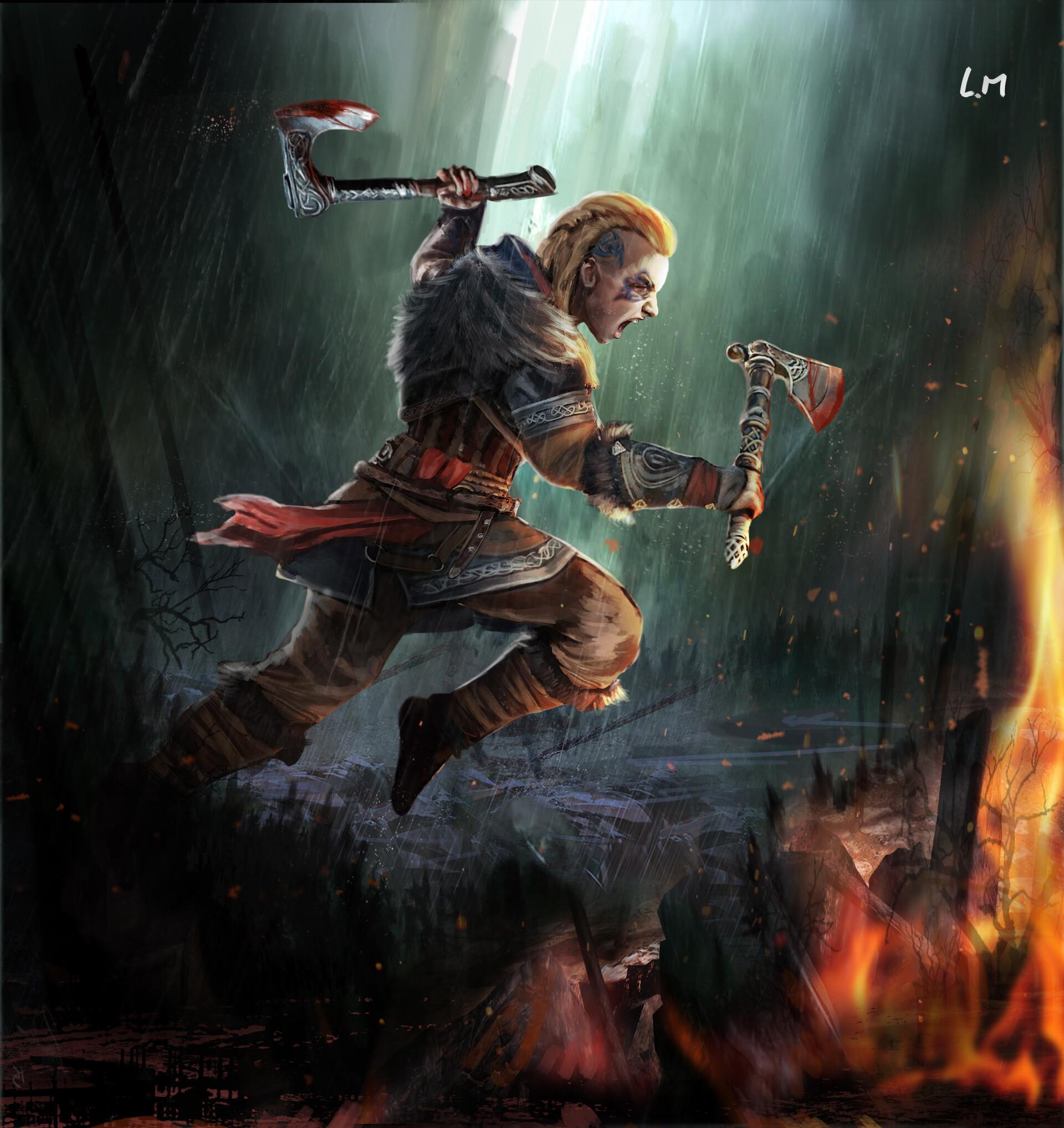 Artstation Fanart Eivor Female Assassin S Creed Valhalla