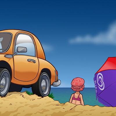 Renaud guyomard auto plage