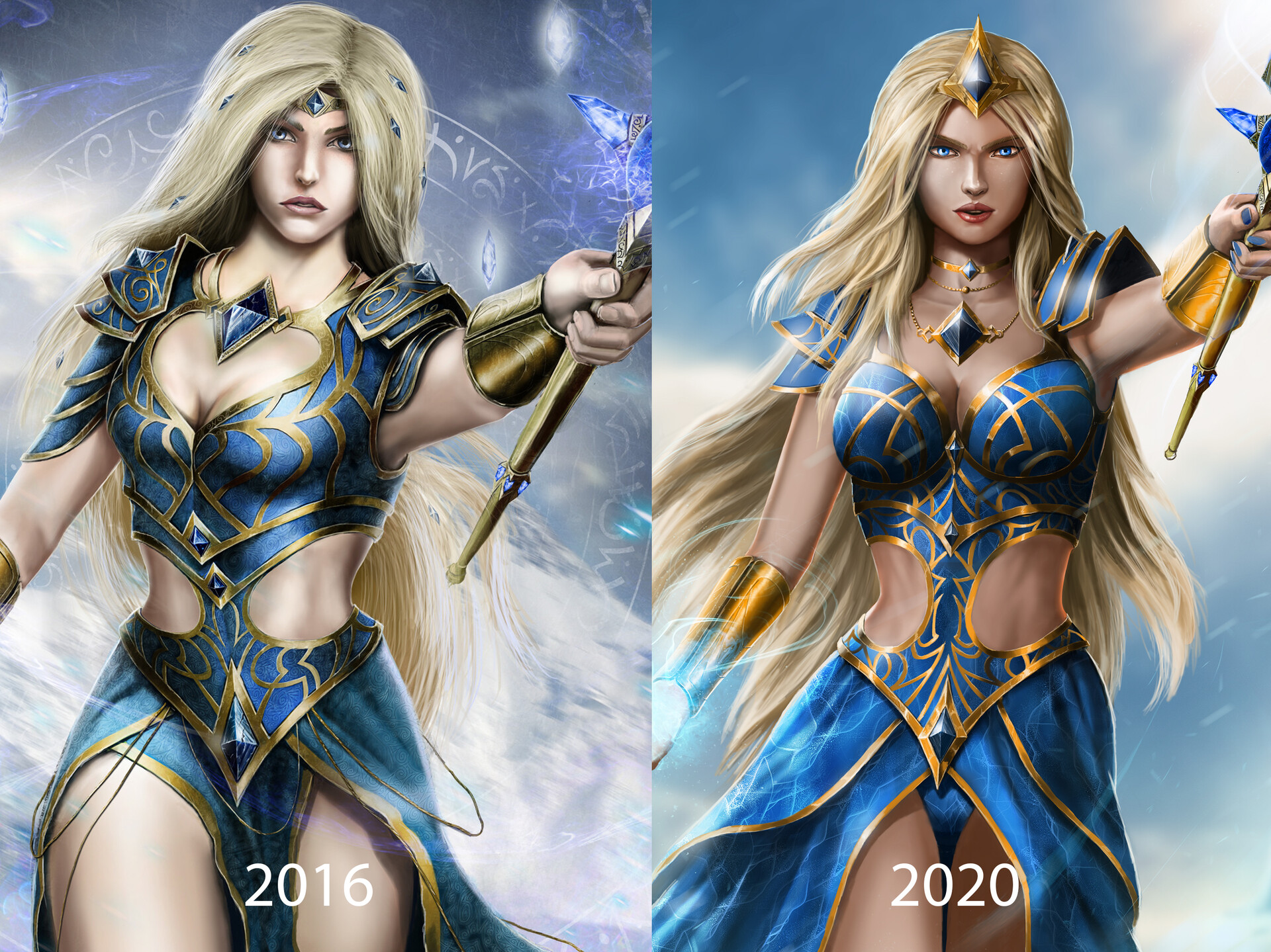 Aveena is a repaint of a character I painted in 2016.  I've improved a lot since then so it's really nice to see how far I've come