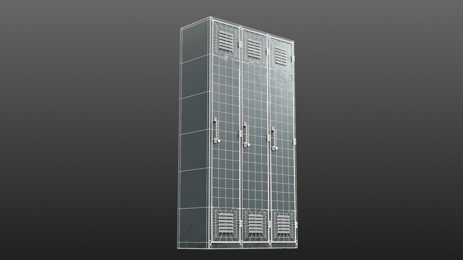 Lockers - wireframe