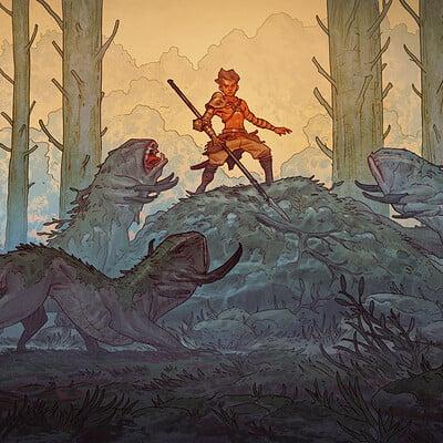 Tim mcburnie incarnate keyframe forestambush colorwip 01