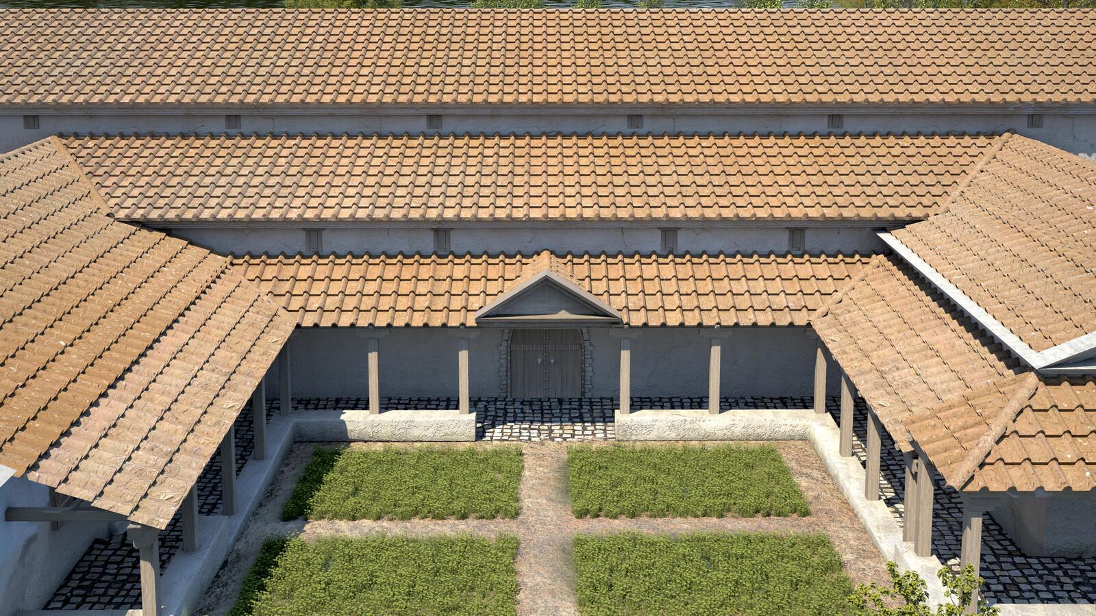 Roman Villa of Weyregg - main entrace
