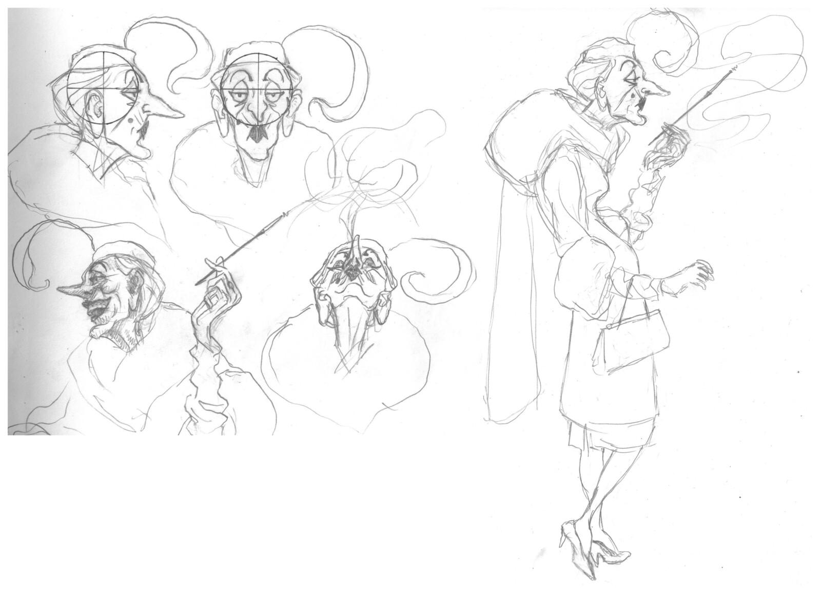 My initial Veronique concepts.