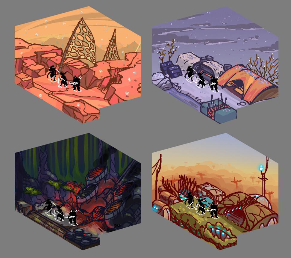 Quick environment sketches.