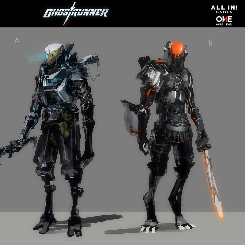 Ghostrunner - early concepts