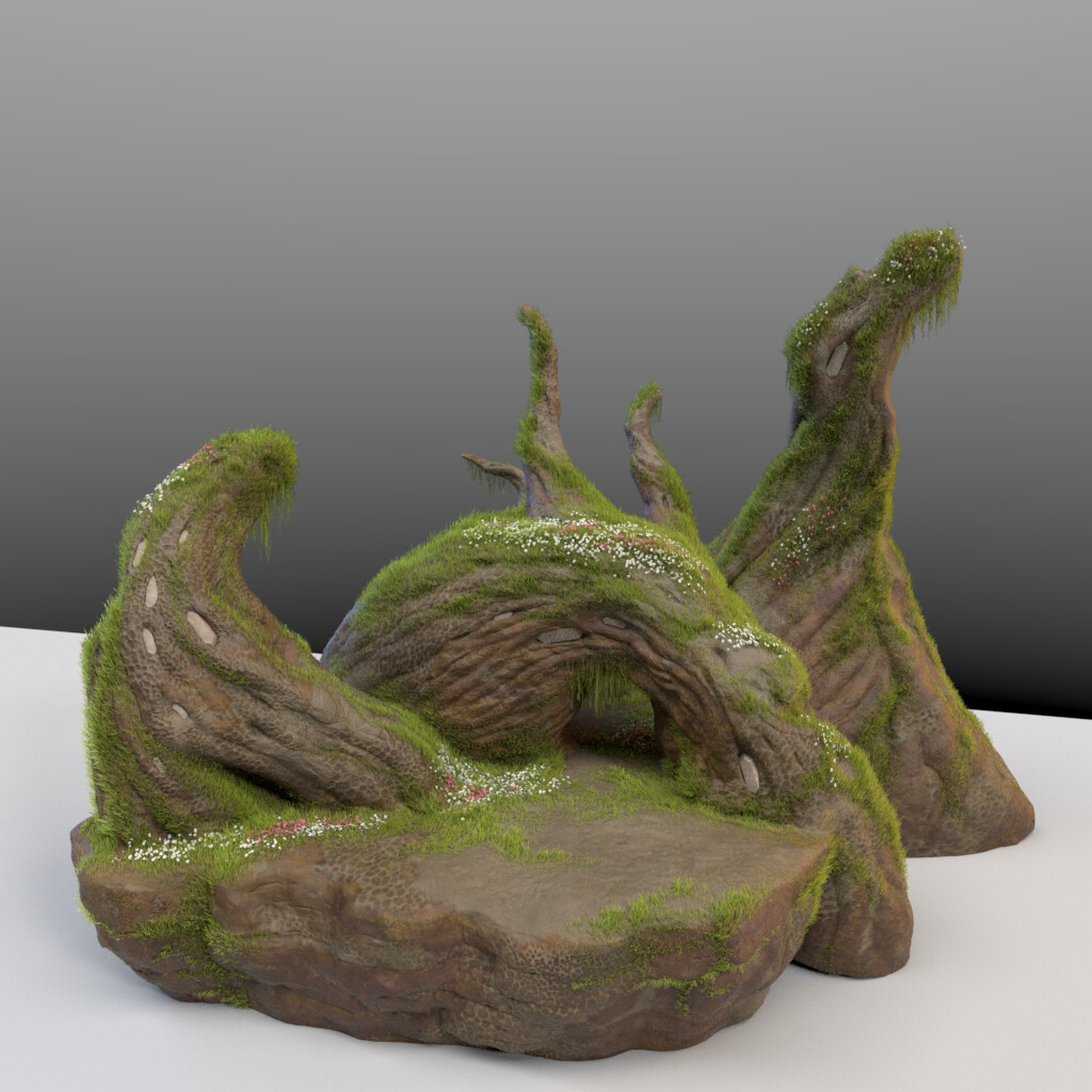 model and vegetation (yeti) by Olivier Couston, textures by someone else (don't remember who, sorry).