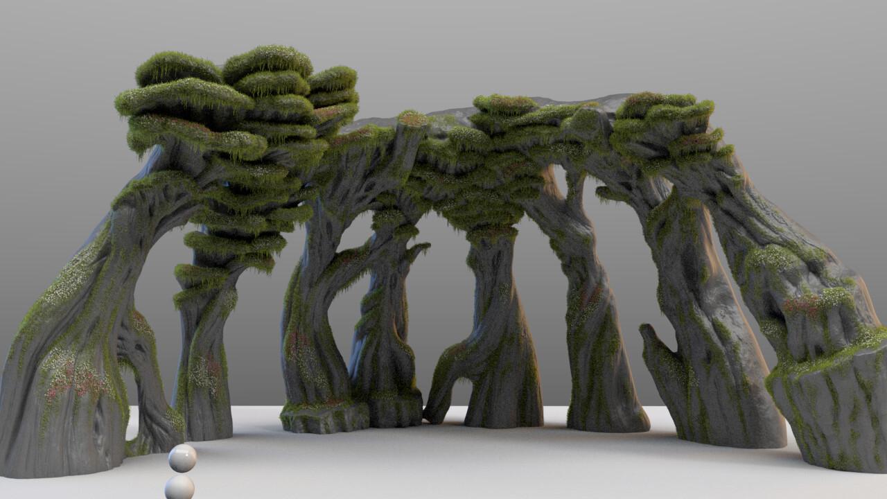 model and vegetation (yeti) by Olivier Couston