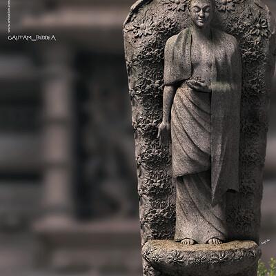 Surajit sen gautam buddha digital sculpture surajitsen may2020a